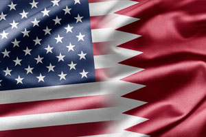 USA - Qatar flags