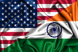 USA and Indian Flags